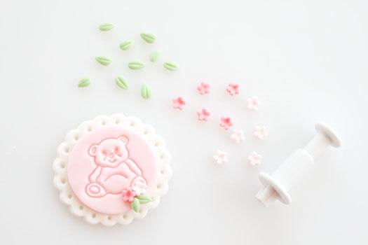 teddy bear fondant cupcake toppers